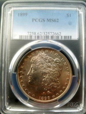 Semi key date 1899 p ms62 pcgs graded morgan silver dollar for Sale in Orange, CA