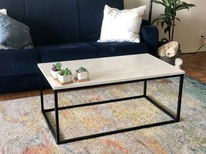 Coffee table, marble finish for Sale in Boston, MA