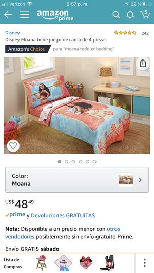 4 pieces toddler bed set Moana Disney for Sale in Pembroke Pines, FL