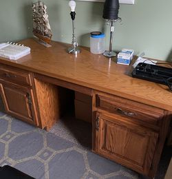 Oak solid wood Desk for Sale in Raleigh,  NC