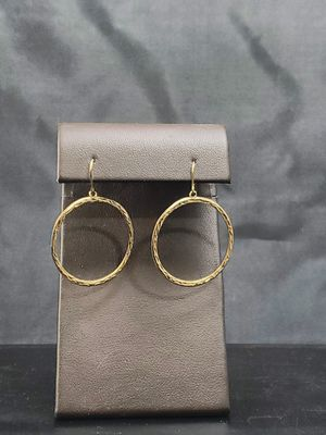 10k yellow gold diamond cut earrings for Sale in Aurora, CO