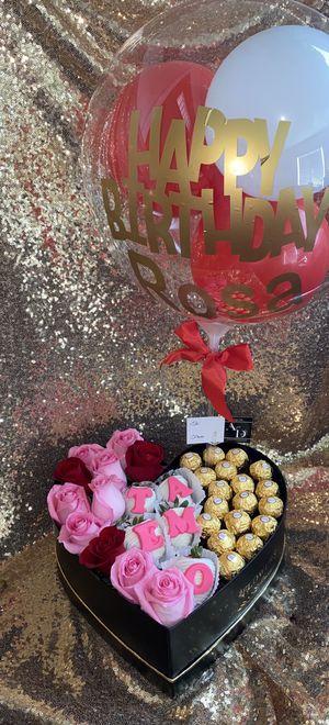 Flowers / balloons/ floral arrangement/ flores / flowers / rosas / roses / arreglo floral for Sale in Bloomington, CA