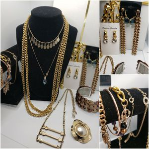 GREAT BUNDLE, VINTAGE, 14 iTEMS, tHIS BEAUTIFUL LOT IN GOLD TONE INCLUDES 6 BRACELTS, 1 BROOCH, 4 NECKLACES, 3 PAIR OF EARRINGS. GOOD CONDITION. for Sale in Erlanger, KY