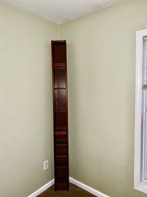 Tall handy corner storage/book shelf for Sale in Durham, NC