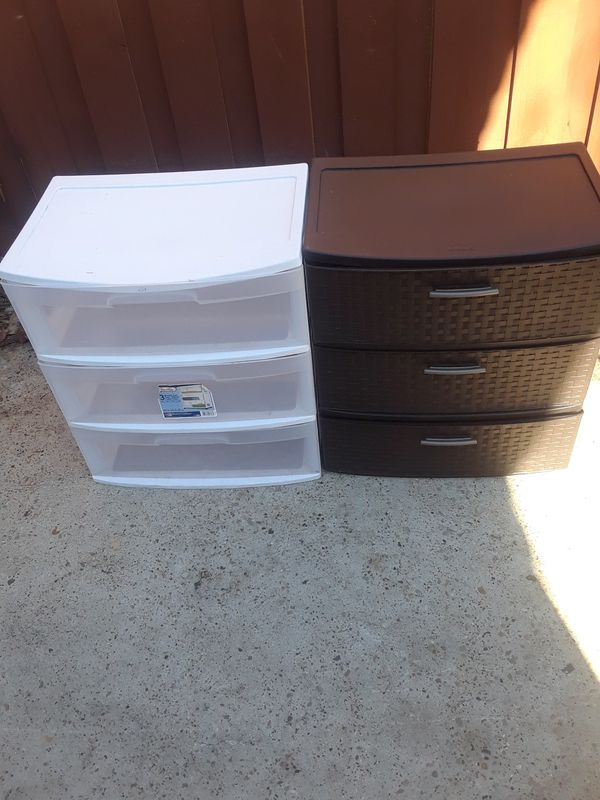 Both 3 Drawer Sets $ 30.00 cash only (price firm)