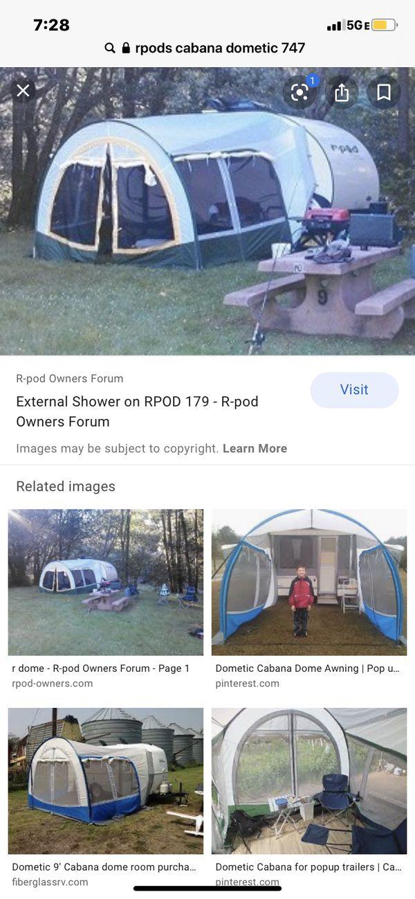 "Rpod type trailer/rv the ""cabana "" screen room"