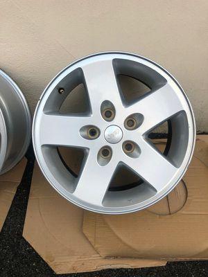 "OEM 17"" alloy wheels from Jeep Wrangler Sport for Sale in Arlington, VA"