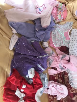 Baby doll clothes and American girl doll size clothes for Sale in Vista, CA