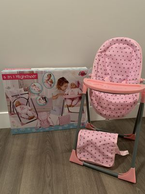 Doll high chair/swing set for Sale in Eagle Mountain, UT