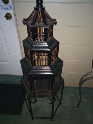 Fake wood bird cage for Sale in Clearwater, FL