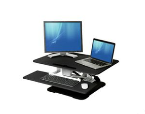 Adjustable Two-Monitor Desk with Keyboard Tray for Sale in ROWLAND HGHTS, CA