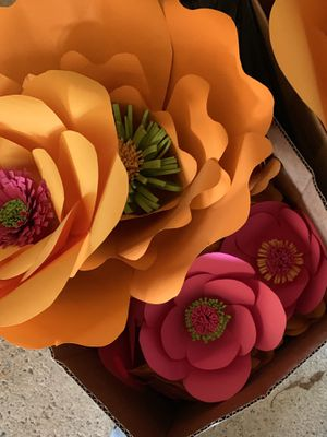 Paper flowers home or party decor for Sale in North Reading, MA