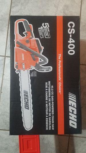 Echo cs-400 chainsaw for Sale in San Antonio, TX