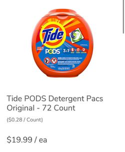 72 Count Tide PODS -Original for Sale in Brooklyn,  NY