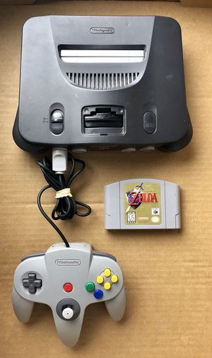 Nintendo 64 with 10 Games / 2 Controllers / Zelda / Star Wars / Game Shark Pro for Sale in Margate, FL