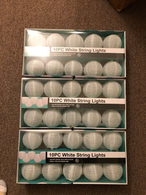 30PC White String Lights for Sale in Carmel Valley, CA