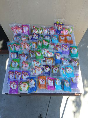 60 brand new Ty mcdonalds beanie babies (great gift) for Sale in Corona, CA