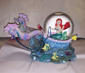 Disney Ariel Little Mermaid with Seahorses Musical Snow Globe for Sale in Stafford, TX