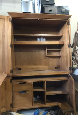 Ethan Allen hardwood storage cabinet/desk for Sale in Prineville,  OR