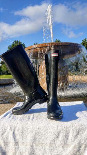 Hunter Original Gloss black rain boots. Women's 10 / Men's 9 for Sale in Braintree, MA