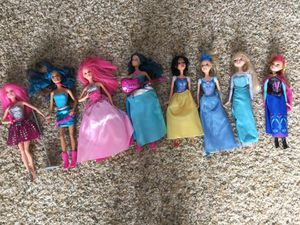Assorted Barbie & Disney Dolls for Sale in Sharon, MA