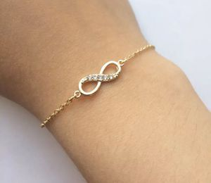 Gold or Silver Infinity Bracelet With Crystal Stones for Sale in Des Plaines, IL