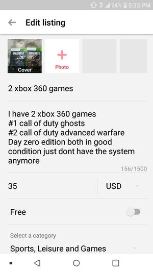 2 xbox 360 games for Sale in Columbus, OH