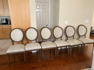 Set of 6 Restoration Hardware chairs for Sale in Sunnyvale, CA