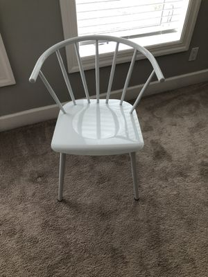 White metal bucket chair for Sale in Washington, DC