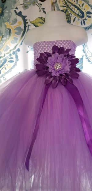 Flower girl purple tutu dress size 1-2T for Sale in Paramount, CA