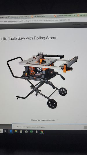WEN 15 Amp 10 in. Jobsite Table Saw with Rolling Stand for Sale in Southwest Ranches, FL