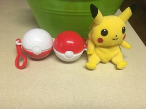 A toy plushy and Pokémon balls both for $20 for Sale in Forest Grove, OR