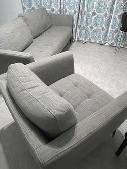 Gray Couch And Sofa Chair Set for Sale in Manor,  TX