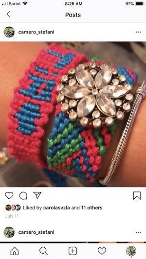 Personalized your bracelet, handmade bracelets I'm do it 🙌🏻❣️choose two colors 👍🏻 for Sale in Nashville, TN
