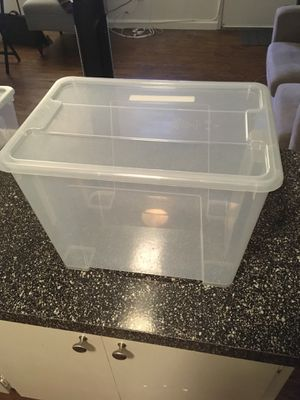 Clear Storage Container (15.5 x 11 x 11 inches) for Sale in San Diego, CA