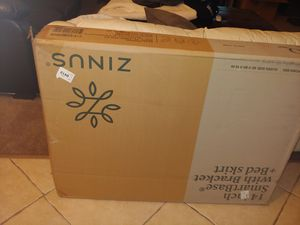 """New Zinus Queen Sized Bed Frame. Smartbase 14"""" with skirt New for Sale in Seffner, FL"""