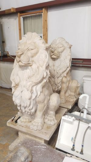 2 Exotic and heavy marble lions for Sale in Largo, FL
