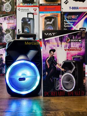 "Karaoke Portable Bluetooth Speaker Bocina Nueva 8"" 🔊 Pulgadas LED Lights Karaoke 🎤 Included Rechargeable 🔋 +++ for Sale in Los Angeles, CA"