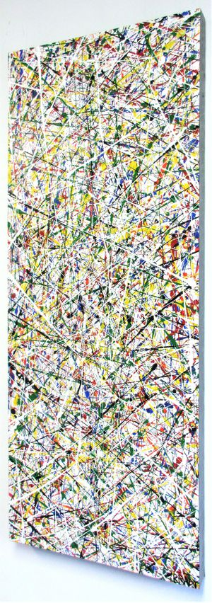 40x16 JACKSON POLLOCK STYLE DRIP ART PAINTING STRETCHED CANVAS AND READY TO HANG! for Sale in Cincinnati, OH