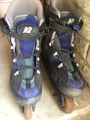 K2 Roller blades with wrist guards for Sale in Ashburn, VA