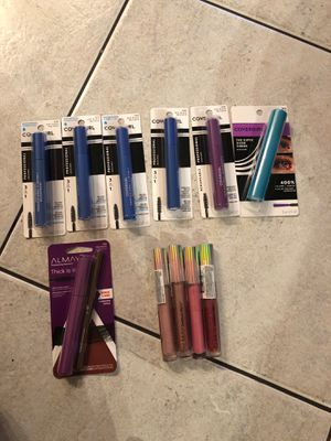 Almay/ cover girl mascaras and lip gloss for Sale in Seminole, FL
