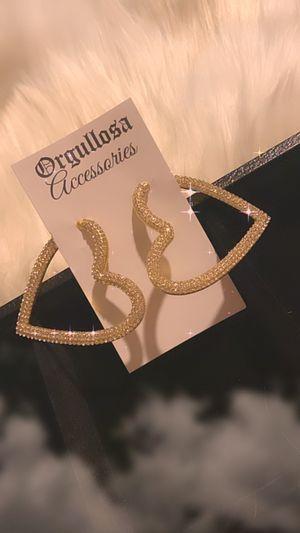 Heart diamond earrings for Sale in Huntington Park, CA