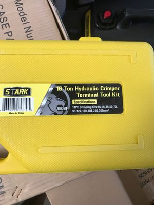 16 ton hydraulic crimper terminal tool kit for Sale in Irwindale, CA