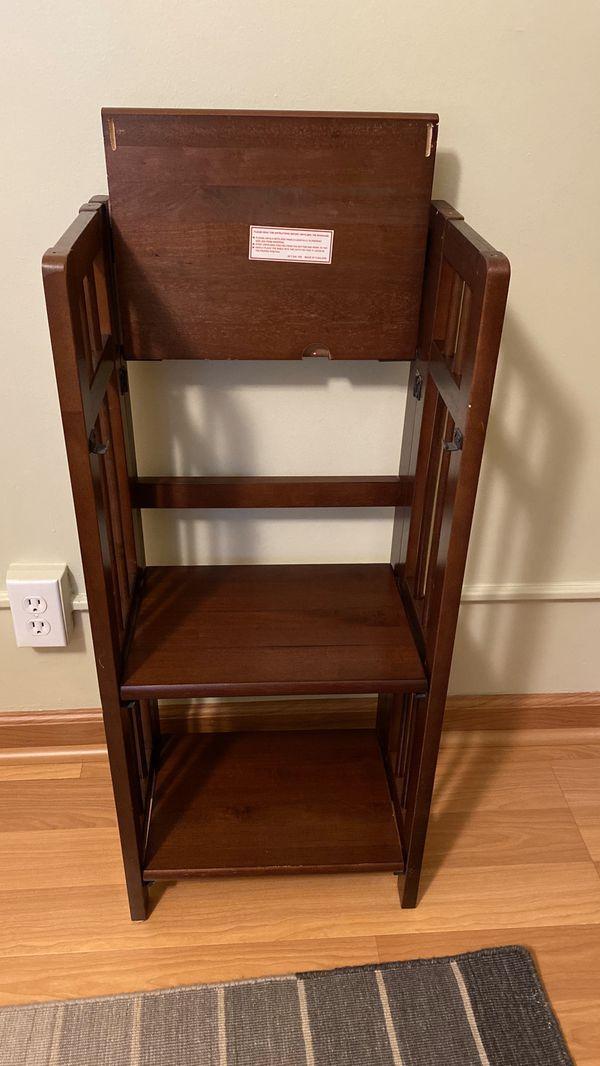Small Solid Wood Folding Book Shelf