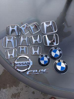 Emblema honda, bmw, Nissan, civic for Sale in Lakewood, CA