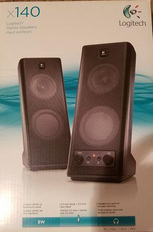 Logitech stereo Speakers x140 for Sale in Falls Church, VA
