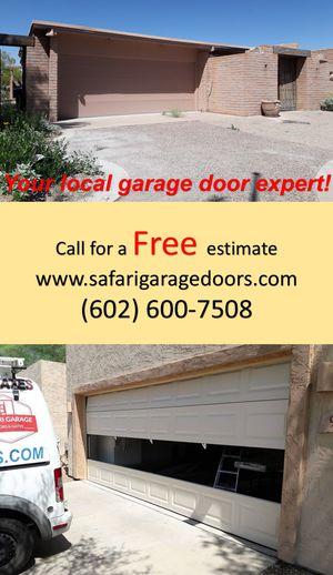 Garage doors and motors / garage door spring / garage door opener for Sale in Phoenix, AZ