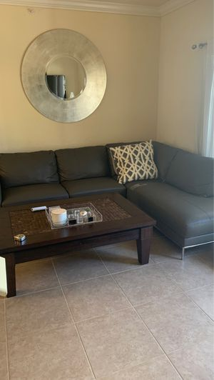 Grey Sectional couch for Sale in Boca Raton, FL