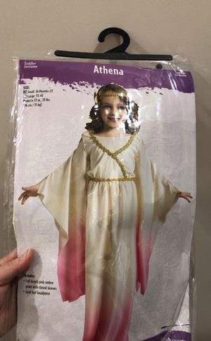 Princess Athena costume small 24 months to 2t for Sale in Gainesville, VA