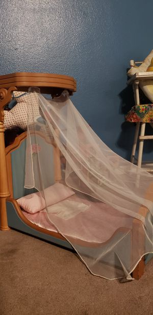 American Girl doll half canopy bed for Sale in El Cajon, CA